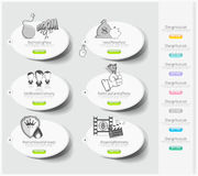 Design icons set with stickers Stock Images