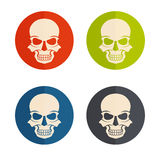 Design icons with skulls Royalty Free Stock Photos