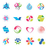 Design_icons_symbols. Several concepts for company logo. Vector illustration Royalty Free Stock Photos