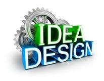 Design and idea text, Concept Stock Photos