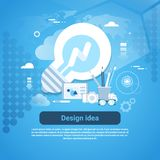 Design Idea Web Development Template Banner With Copy Space. Vector Illustration Stock Photo