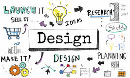 Design Ideas Create Planning Vision Concept Royalty Free Stock Photography