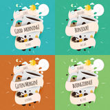 Design Ideas for packaging, labels, covers, badges Stock Photo