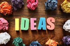 Design ideas thought process Royalty Free Stock Photography