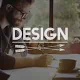 Design-Ideen-Kreativitäts-Art-Inspirations-Konzept stockbild