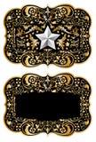 design ii för cowboy för bältebuckla Arkivbild