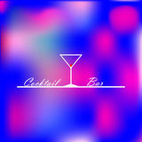 Design illustration with the image of a glass for a cocktail bar Stock Photo