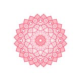 Red mandala decorative ornament round royalty free illustration