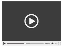 Design illustration of a stylish video player. Design illustration of a stylish  video player Royalty Free Stock Images