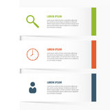 Design infographic. Clean banners template. Vector. Illustration Stock Image