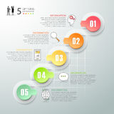 Design infographic 5 Steps, Business concept infographic template. Can be used for workflow layout, diagram, number options, timeline or milestones project Stock Photography
