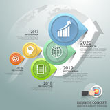 Design infographic 5 Steps, Business concept infographic template. Can be used for workflow layout, diagram, number options, timeline or milestones project Stock Photo