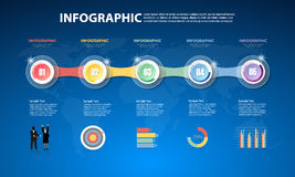 Design Infographic template for  bussiness concept Stock Image
