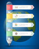 Design Infographic template for  bussiness concept. Vector illustration Stock Photography