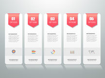 Design infographic template. can be used for workflow layout, diagram. Number options, progress, timeline Royalty Free Stock Images