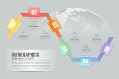 Design infographic template. can be used for workflow layout, diagram Royalty Free Stock Photos