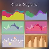 Design infographic template with charts diagrams Stock Image