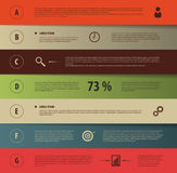 Design infographic template with icons. Vector illustration.  Stock Photography
