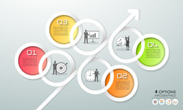 Design infographic template 4 options. Business concept Royalty Free Stock Photography