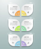 Design infographic template 6 options. Royalty Free Stock Photography