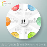 Design infographic template 6 options. Royalty Free Stock Photo
