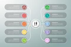 Design infographic template 10 options. Stock Photography