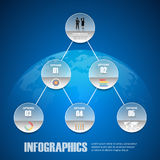Design infographic template 5 steps for business concept. Vector illustration Royalty Free Stock Photography