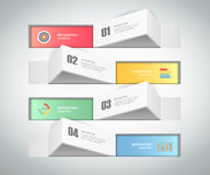 Design Infographic template 4 steps. for bussiness concept Stock Images