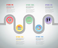 Design Infographic template 5 steps. can be used for workflow layout, diagram Royalty Free Stock Photo