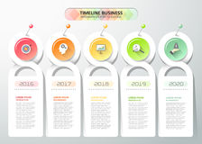 Design infographic template  5 steps. can be used for workflow, Stock Image