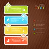 Design infographics four successive options with icons Royalty Free Stock Images