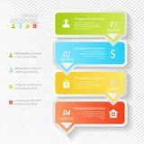 Design infographics four successive options Royalty Free Stock Photos