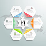 Design infographics 6 options. Infographic template for business concept Stock Image