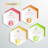Design infographics 4 Schritte Auch im corel abgehobenen Betrag Stockfoto