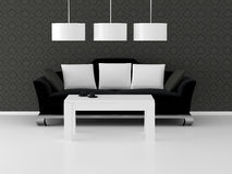 Design interior of elegance living room Royalty Free Stock Image