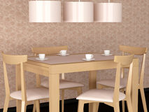 Design interior of elegance modern dining room Stock Image