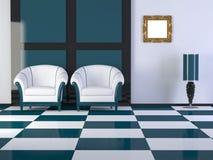 Design interior of elegance modern room Stock Photos