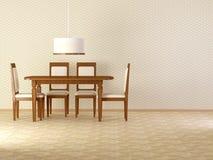 Design interior of elegance vintage dining room Royalty Free Stock Images