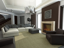 Design of interior. Living-room Stock Image