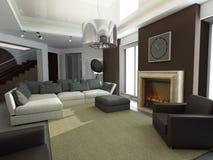 Design of interior. Living-room royalty free illustration