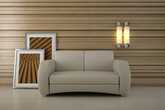 Design interior. Sofa in modern room Stock Images