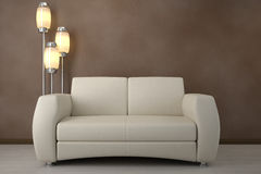 Design interior. Sofa in room Royalty Free Stock Photos
