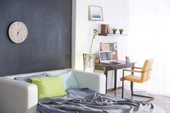 Design interior of teenage  room. Design interior of teenage boy room Stock Photography