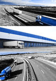 Design international shipment and highway Stock Images