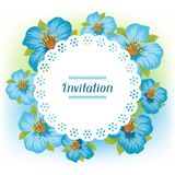 Design of invitation card with pretty stylized Stock Images