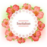 Design of invitation card with pretty stylized Royalty Free Stock Image