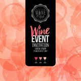 Design of invitation, leaflet or banner for your wine events. Royalty Free Stock Images