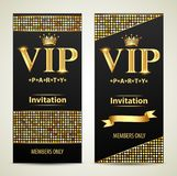 design invitations to the VIP party gold Stock Photo