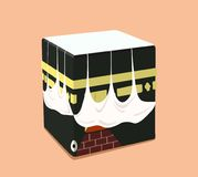 Design of the Islamic Kaaba in a flat style. Vector illustration. royalty free illustration