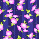 Japanese style morning glory pattern,. Design of a Japanese style morning glory, This painting continues repeatedly vector illustration